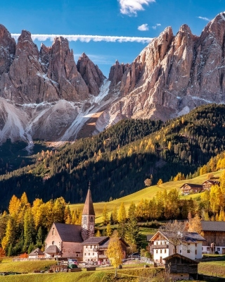 Villnoss South Tyrol Wallpaper for 240x320