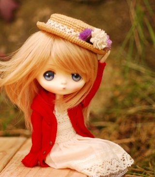 Free Blonde Doll In Romantic Dress And Hat Picture for iPhone 6 Plus