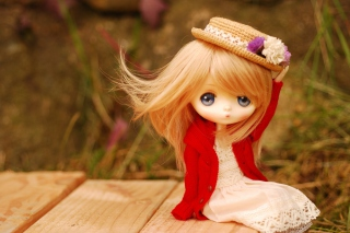 Blonde Doll In Romantic Dress And Hat sfondi gratuiti per cellulari Android, iPhone, iPad e desktop
