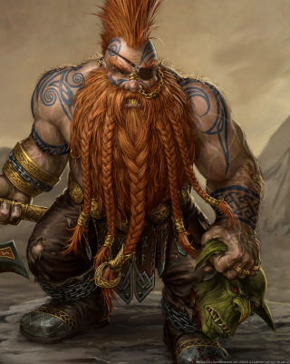 Dwarf Slayer Wallpaper for iPhone 6 Plus