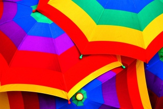 Rainbow Umbrellas Wallpaper for Android, iPhone and iPad