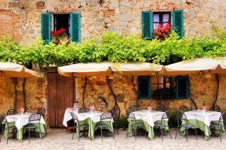 Tavern In Italy Background for Android, iPhone and iPad
