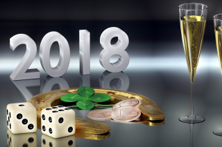 Картинка Happy New Year 2018 with Champagne на телефон 1600x1280
