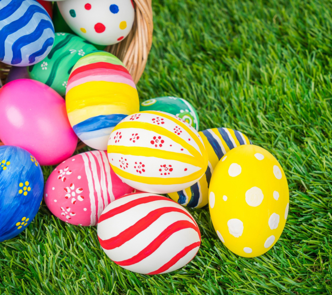 Sfondi Easter Eggs and Nest 1080x960