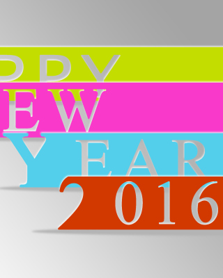 Happy New Year 2016 Colorful Background for Nokia Asha 306