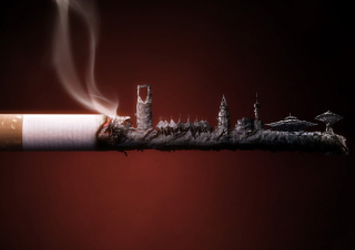 Smoked Cigarette Background for Android, iPhone and iPad