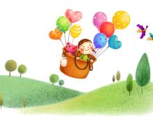 Colorful Balloons Sky Trip para 220x176