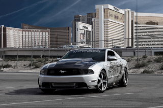 Ford Mustang Aerography Background for Android, iPhone and iPad