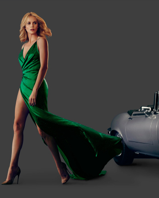 Charlize Theron in Car Advertising Picture for Nokia X2-02