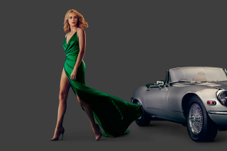 Charlize Theron in Car Advertising Background for Android, iPhone and iPad