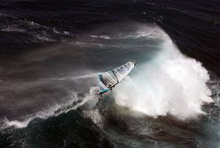 Free Big Wave Windsurfing Picture for Android, iPhone and iPad