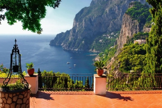 Capri Terrace View Wallpaper for LG Optimus U