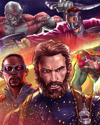 Avengers Infinity War 2018 Artwork sfondi gratuiti per iPhone 4S