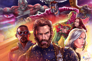 Обои Avengers Infinity War 2018 Artwork на Android