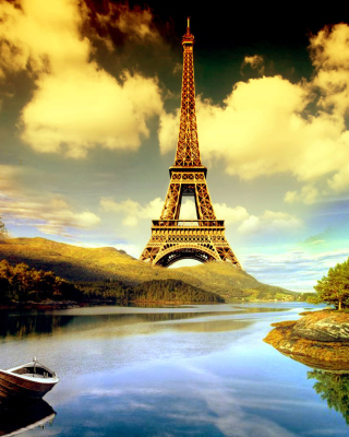 Eiffel Tower Photo Manipulation - Fondos de pantalla gratis para iPhone SE