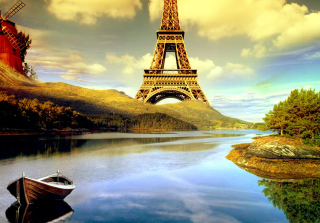 Eiffel Tower Photo Manipulation Wallpaper for Android, iPhone and iPad