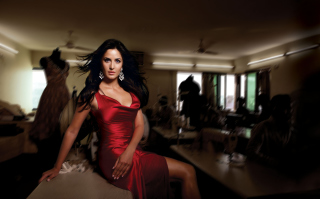 Katrina Kaif Red Dress Background for Android, iPhone and iPad
