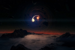 Black Hole Scene Background for Samsung I9080 Galaxy Grand