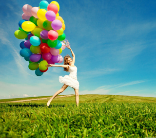 Balloon Girl Background for 208x208