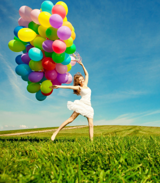 Balloon Girl Background for Nokia C1-01