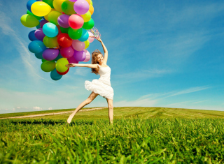 Balloon Girl Wallpaper for Android, iPhone and iPad