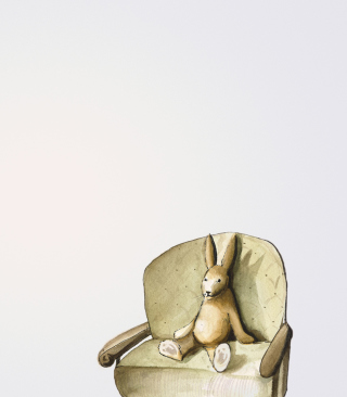 Rabbit On Sofa papel de parede para celular para Nokia C2-05