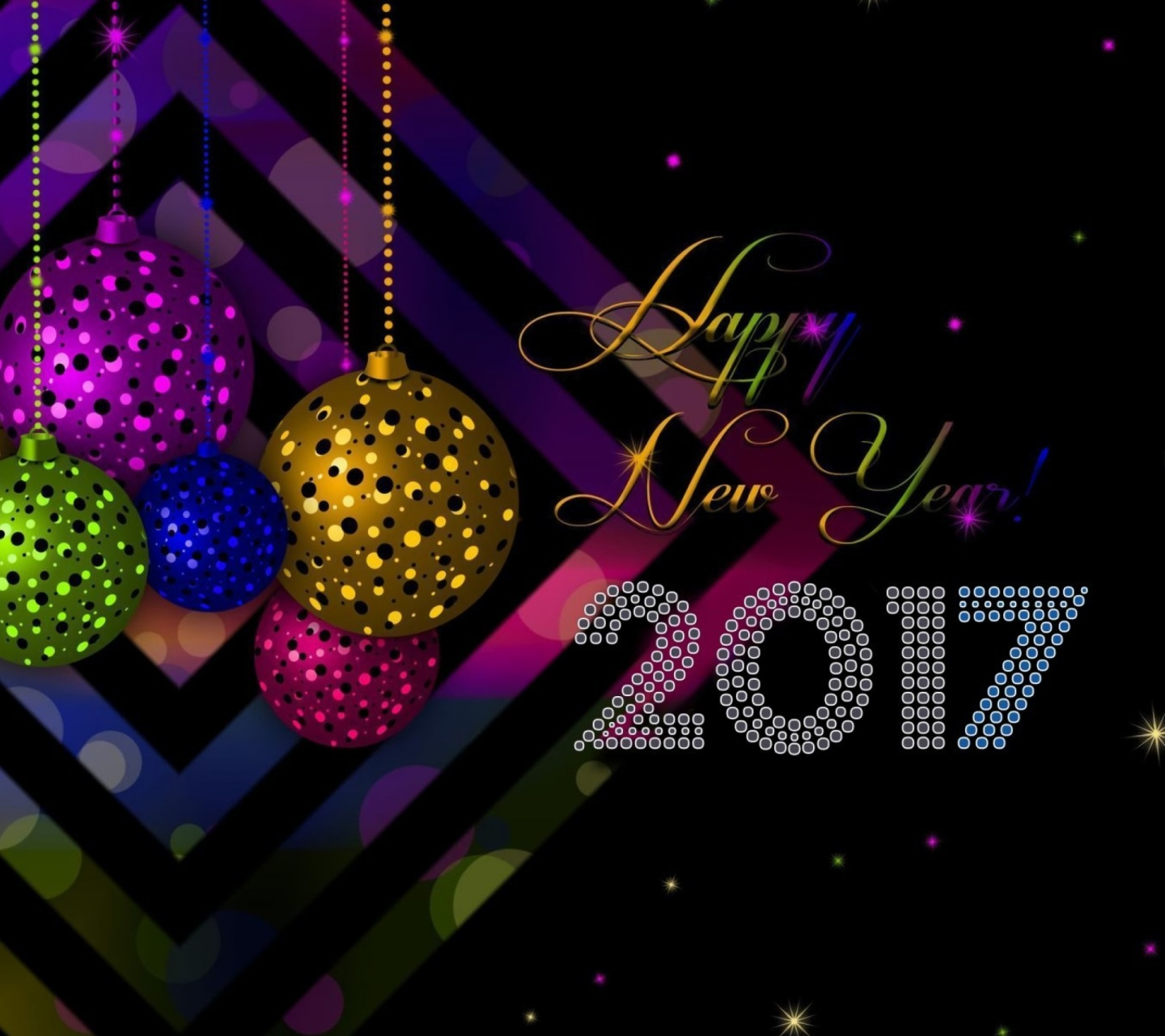 Screenshot №1 pro téma 2017 Happy New Year Card 1440x1280