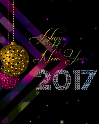 2017 Happy New Year Card Wallpaper for Nokia Lumia 505