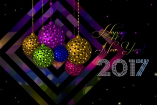 2017 Happy New Year Card sfondi gratuiti per 1200x1024
