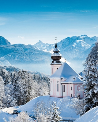 Bavaria under Snow Wallpaper for iPhone 6 Plus