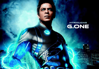 Shahrukh Khan In Ra One Background for Android, iPhone and iPad