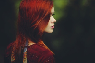 Redhead Girl Background for Android, iPhone and iPad