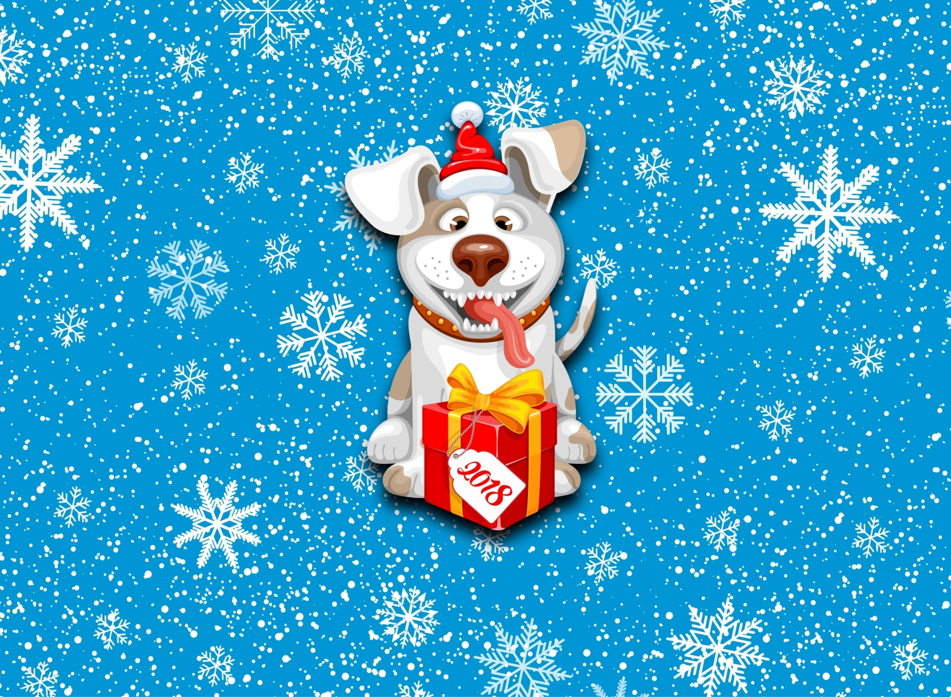 Screenshot №1 pro téma Winter New Year 2018 of the Dog 1920x1408