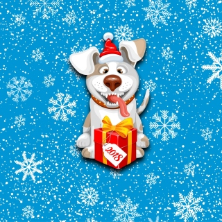 Winter New Year 2018 of the Dog sfondi gratuiti per iPad mini