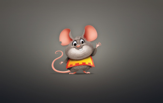 Funny Little Mouse Background for Android, iPhone and iPad