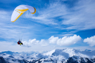 Paragliding Background for Android, iPhone and iPad