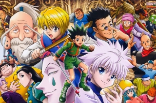 Hunter x Hunter with Gon Freecss, Killua Zoldyck, Kurapika - Obrázkek zdarma pro Samsung Galaxy Note 3
