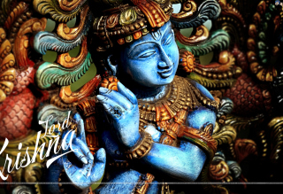 Lord Krishna Background for Desktop 1280x720 HDTV