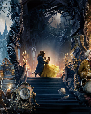 Beauty and the Beast Dance and Song Background for iPhone 6 Plus