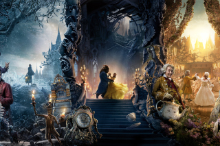 Beauty and the Beast Dance and Song papel de parede para celular para Samsung Galaxy Note 2 N7100