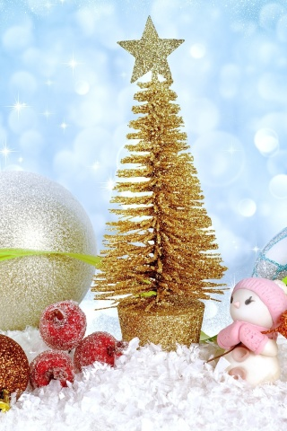 Christmas gifts wallpaper 320x480