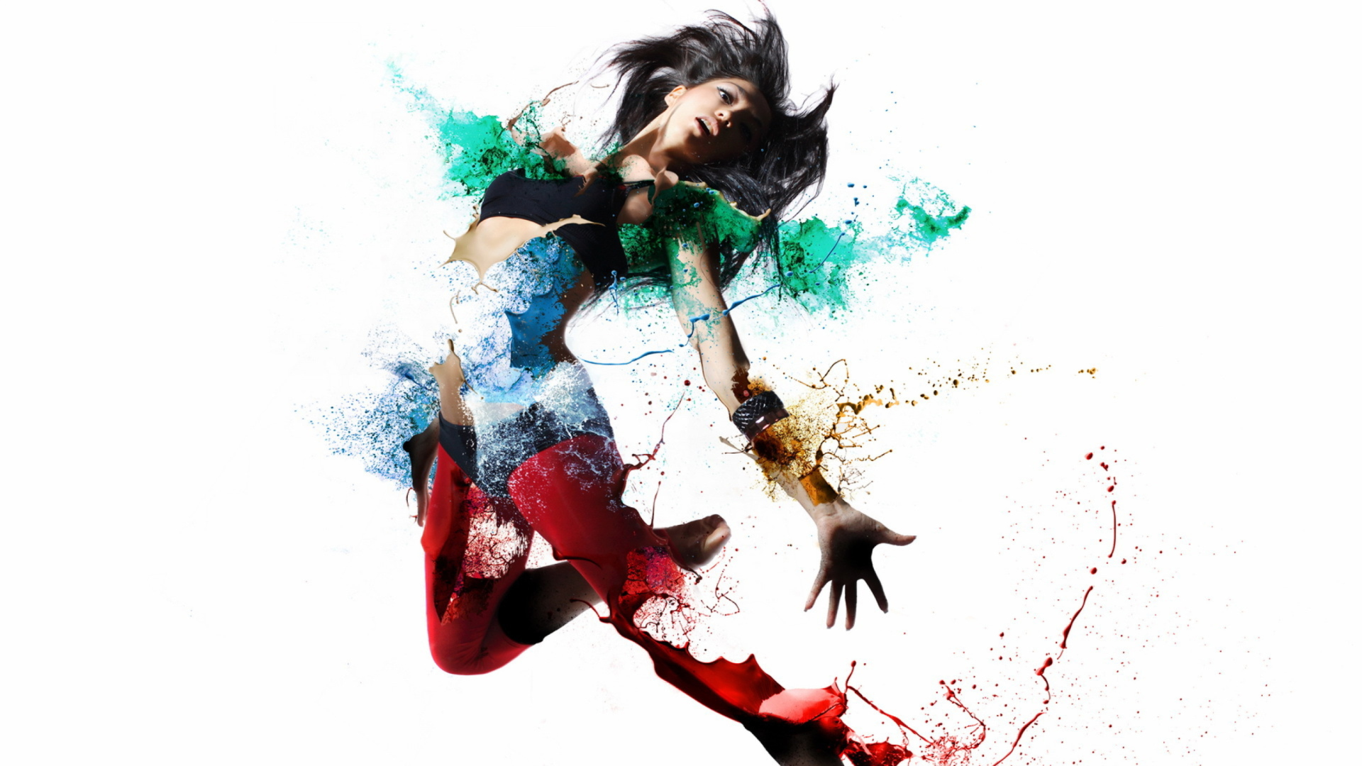 Девушка рисует графити без смс
