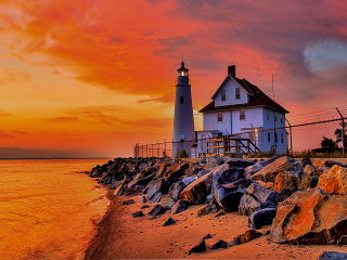 Lighthouse In Michigan for Nokia Asha 200
