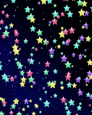 Colorful Stars Wallpaper for iPhone 6 Plus