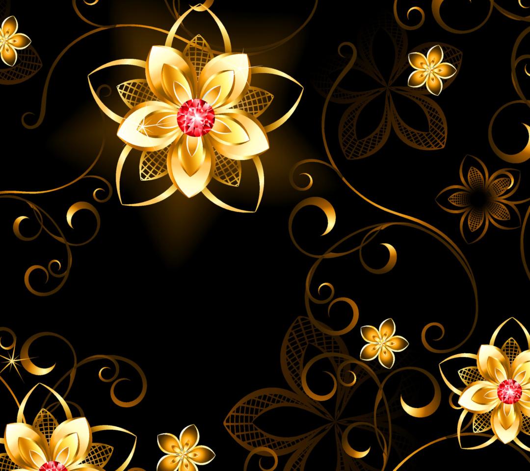 Golden Flowers para Motorola RAZR XT910