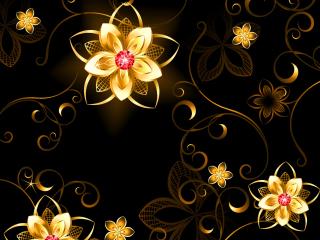 Golden Flowers para Nokia X2-01