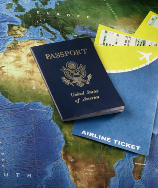 World Travel Tourism - Passport Visa sfondi gratuiti per iPhone 6 Plus