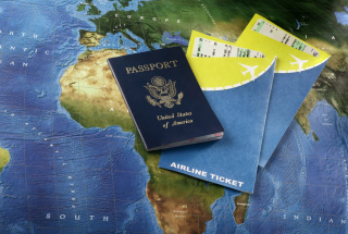 World Travel Tourism - Passport Visa Background for Android, iPhone and iPad
