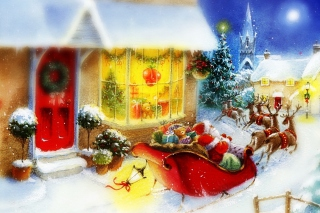 Santa Is Coming Background for Android, iPhone and iPad