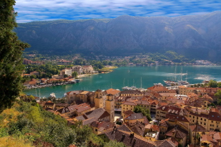 Kotor Scenic, Montenegro Background for Android, iPhone and iPad